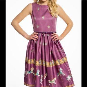 NWT Lindy Bop Pink Audrey Carousel border Dress